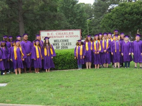 Menchville Seniors Grad Walk to  B. C. Charles