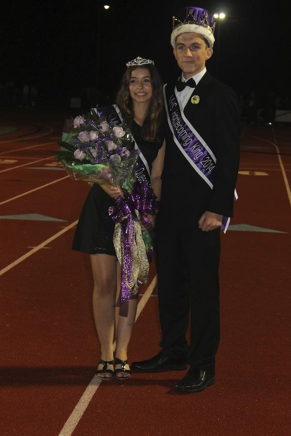 Congratulations+to+homecoming+king+Braden+Bobrick+and+homecoming+Queen+Lizzie+Perez.+