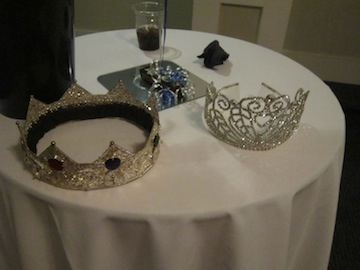 The Crowns For Military King and Queen Displayed Before Being Given Away
