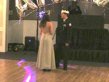 A Tradition Dance Between Military Ball King and Queen