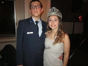 Military Ball Queen Elizabeth Perez With Her Date Braden Bobrick