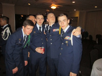 Ecstatic Cadets Matthew Arnold, Samuel Metheny,Austin Reynolds, Brent Reynolds, and Noah Van Treeck Proudly Pose For A Quick Picture