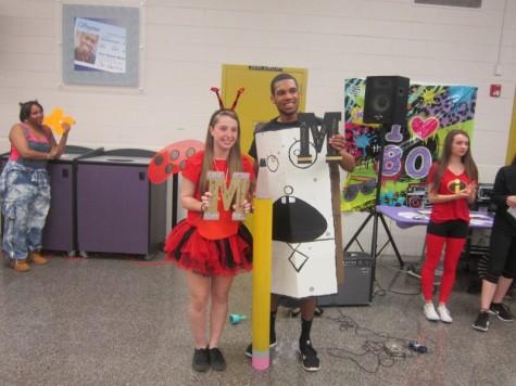 Ashley Claiborne and Myles Goggins win superlatives for Most School Spirited
