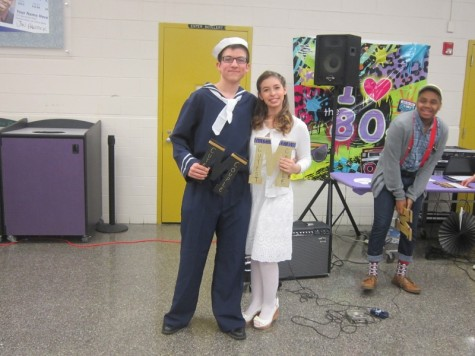 Braden Bobrick and Lizzie Perez-Garcia accept their superlatives for Cutest couple
