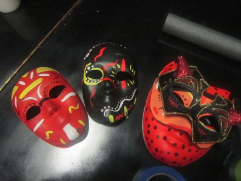 Decorated masks for props