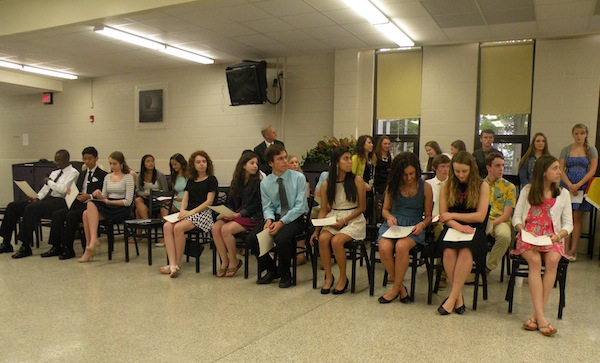 Spanish Honor Society inductees