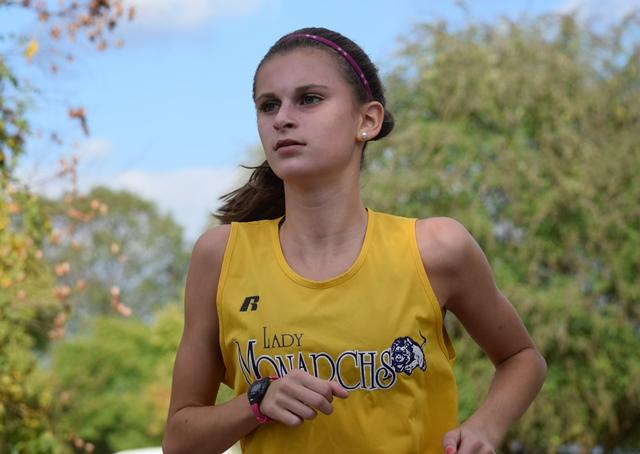 Rachel Smith completely focused on getting to the finish line!