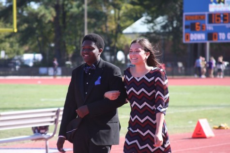 Sophomore Homecoming Court- Izabel Salken and Mario Jones