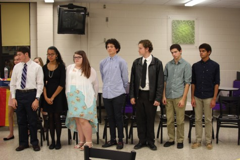 German Honor Society inductees stand to be inducted.