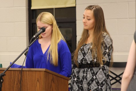 Co-Presidents Jessica Wilbur and Kate Bryant discuss the importance of French Honor Society.