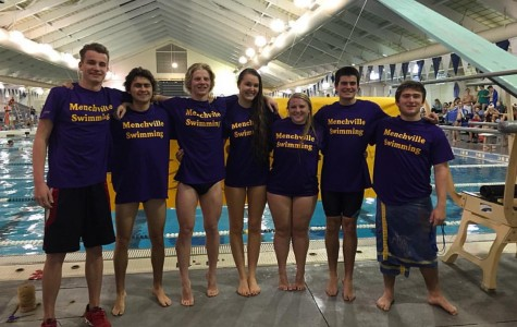 Menchville Swim Team Seniors Finish Season With Win Over Warwick