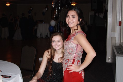 4th year Emi Higashieutoko smiles for a picture with her date Allie Hoebeke.