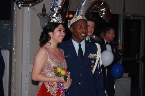 4th year ROTC King and Queen are Jamelle Ramsey and Emi Higashieutoko.
