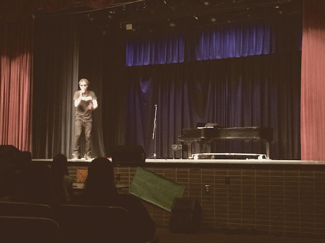 Soloist Elijah Saleem rapping.