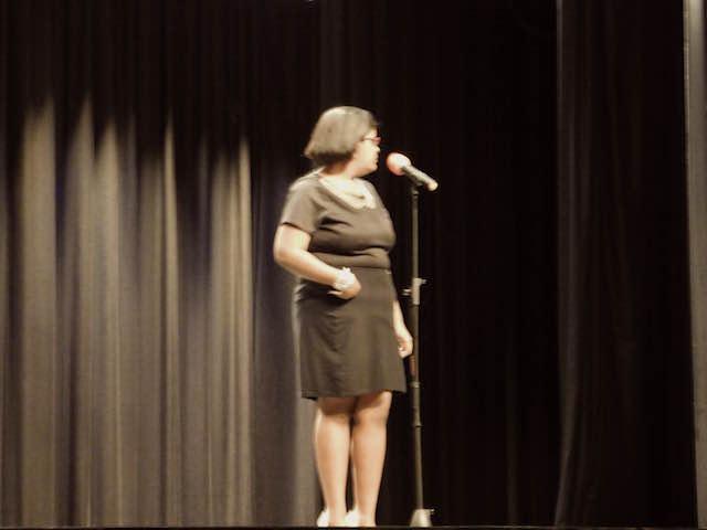 Soloist Shakayla Reed singing