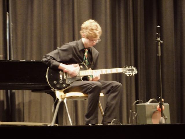 "Soloist Noah Nipp playing ""Blues no.1"""