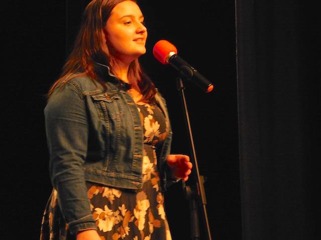 Soloist Miranda Russnow singing