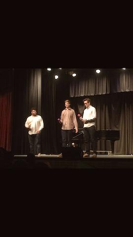Quartet Josh Jones, Casey Morewitz, Donovan Robinson, and pianist Rose Rizzi.