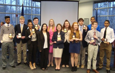 Winning FBLA members pose for  a group photo