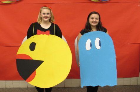"Harleigh Nunn & Miranda Russnow as ""Mrs. Pacman"""