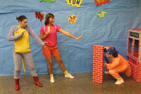 "Emily Dawson, Jessica Wilbur, & Asher Hamilton as ""Dora The Explorer"" characters."