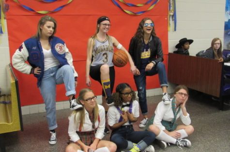 "Jordan wright, Courtney Rodgers, Kailey Hinson, Natalie Vaughn, Nelia Perez, Ashley Booth as ""Jocks v. Nerds"""