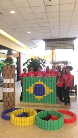 Menchvilles GYDA team with their finished Can -Struction.