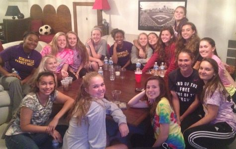 Menchville Girls Varsity Soccer use pasta dinners as much loved bonding time.