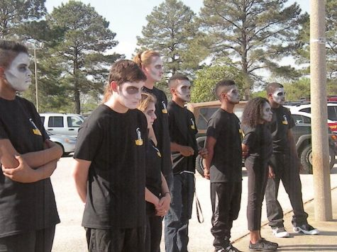 "Students acting as the ""Living Dead"""