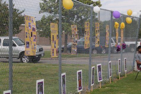 The field was decorated for the Seniors with balloons, streamers, and posters with pictures of them playing, reflecting on their past years playing for Menchville soccer.
