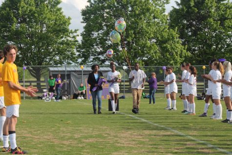 Senior, Semiyah Bellamy was announced first and escorted by her parents.