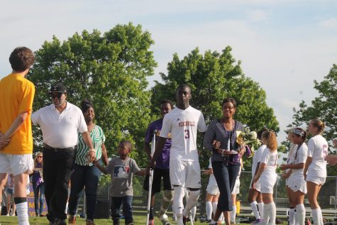 Senior Tre Bagby was escorted by his family and plans on attending Thomas Nelson Community College in the fall.