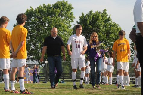 Senior, Brad Malarkey was escorted by his parents and brother, Drew Malarkey. Brad plans on playing soccer at Hampden-Sydney College this fall.