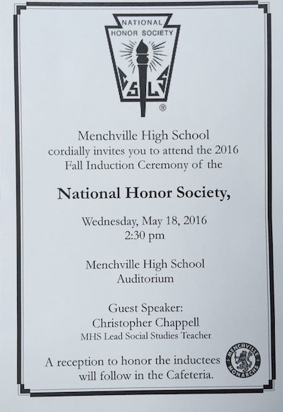 National Honor Society Inductions