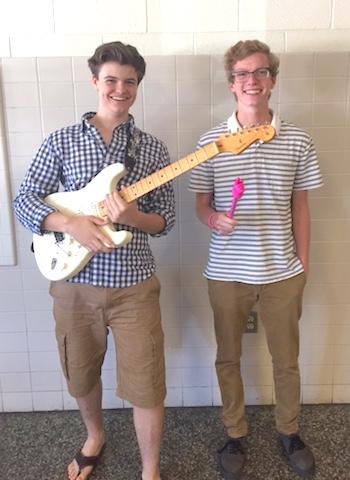 Freshman Sam Cornette and Junior Noah Nipp