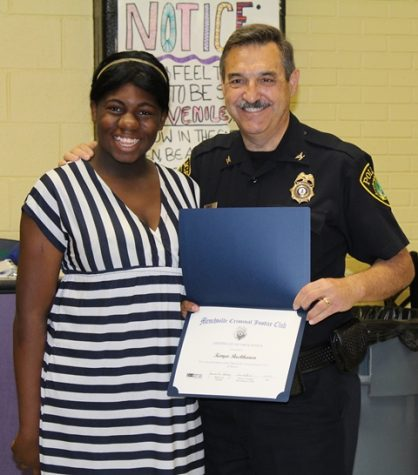 Kenya Buckhanon and Police Chief Myers
