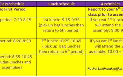 Spirit Day – Half Day Schedule