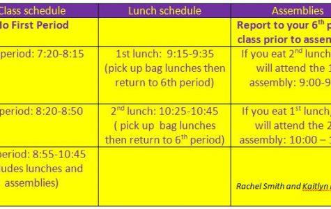 Spirit Day - Half Day Schedule