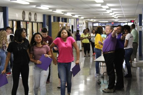 Class of 2020 arriving at Menchville.