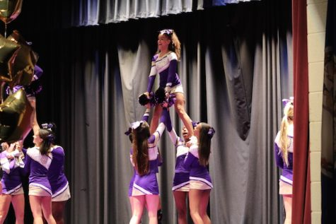 Menchville's cheerleaders take the stage