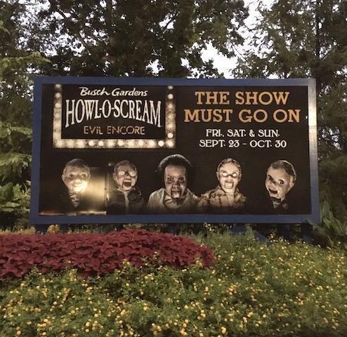 Busch Gardens' Howl-O Scream billboard