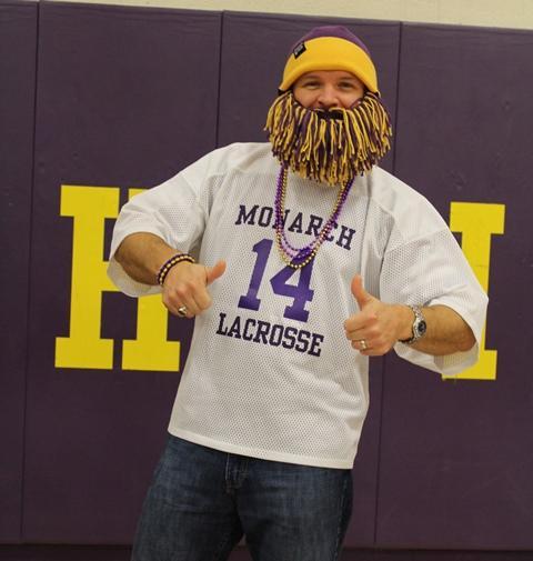 Brandon Traner showing his Monarch Spirit