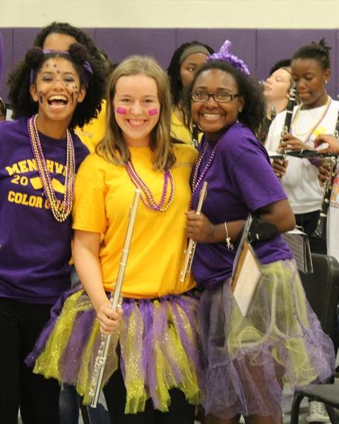 Monarch's showing their school spirit