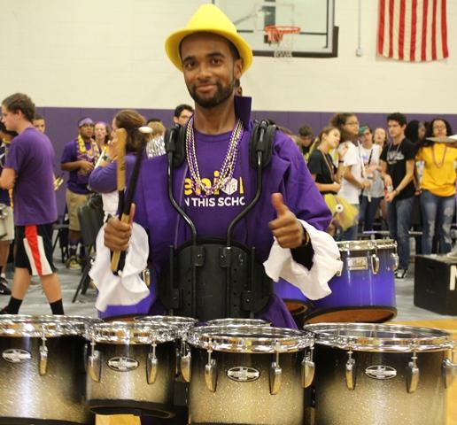 Senior Drummer Aaron Hodges