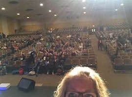 Stephanie Cooke takes a selfie with Menchville's Class of 2020