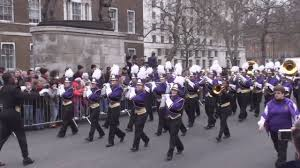 The Menchville Band marching in the New Year's Day Parade in London in 2013.