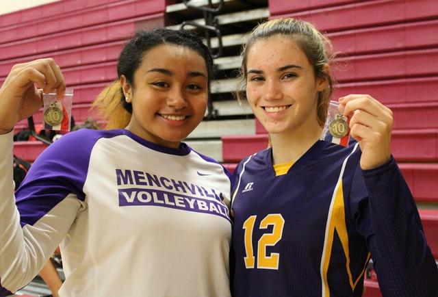 All-Conference Playerd Siena Naotala and Lexie Hendricks