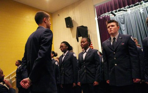 1st Year Cadets compete to see who has the most self-discipline.