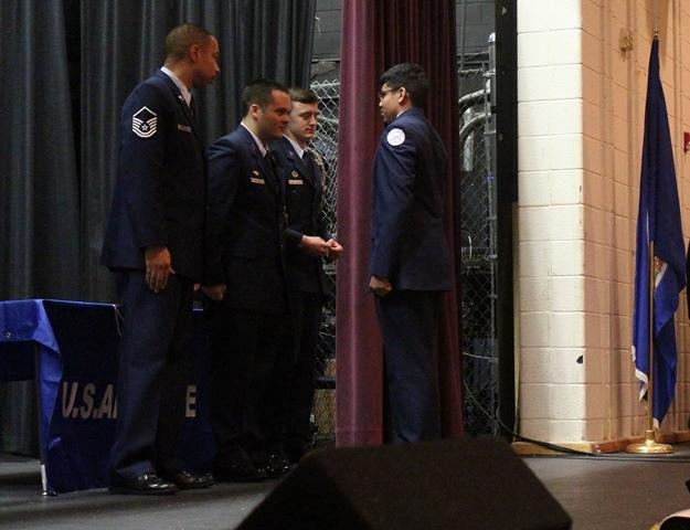 Receiving first stripes
