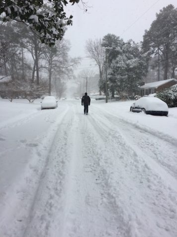 Captured by Sandy Graham, last year's snowstorm had students out of school for days.